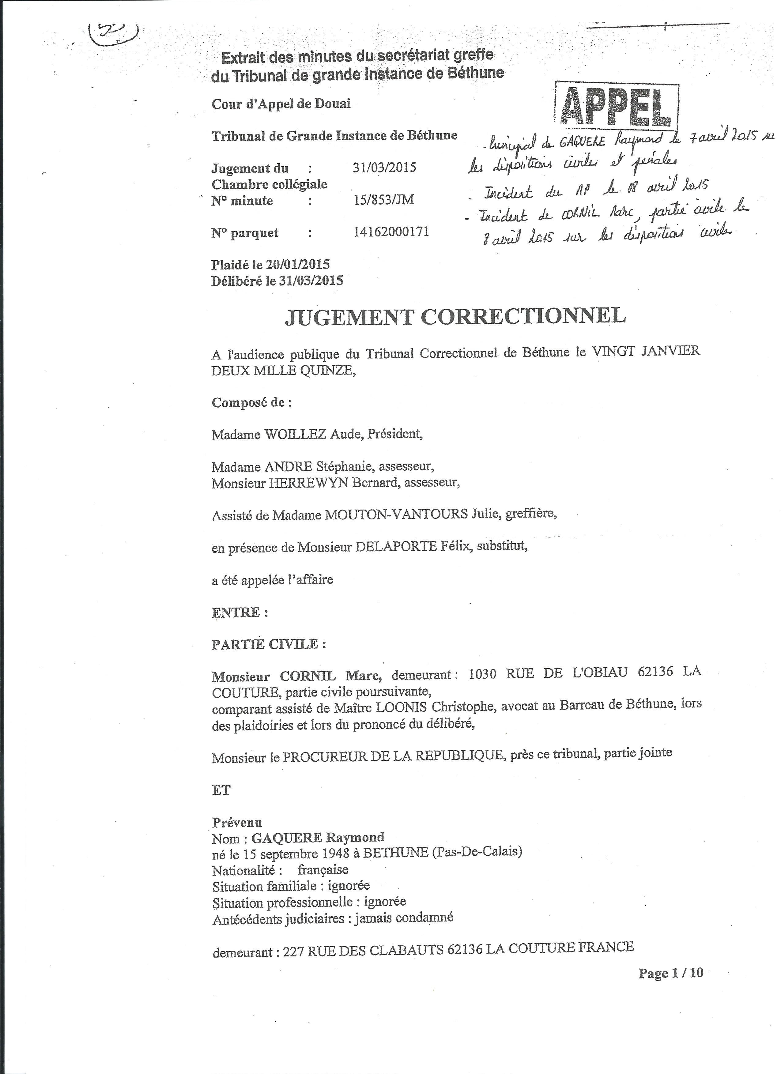 Jugement P 1