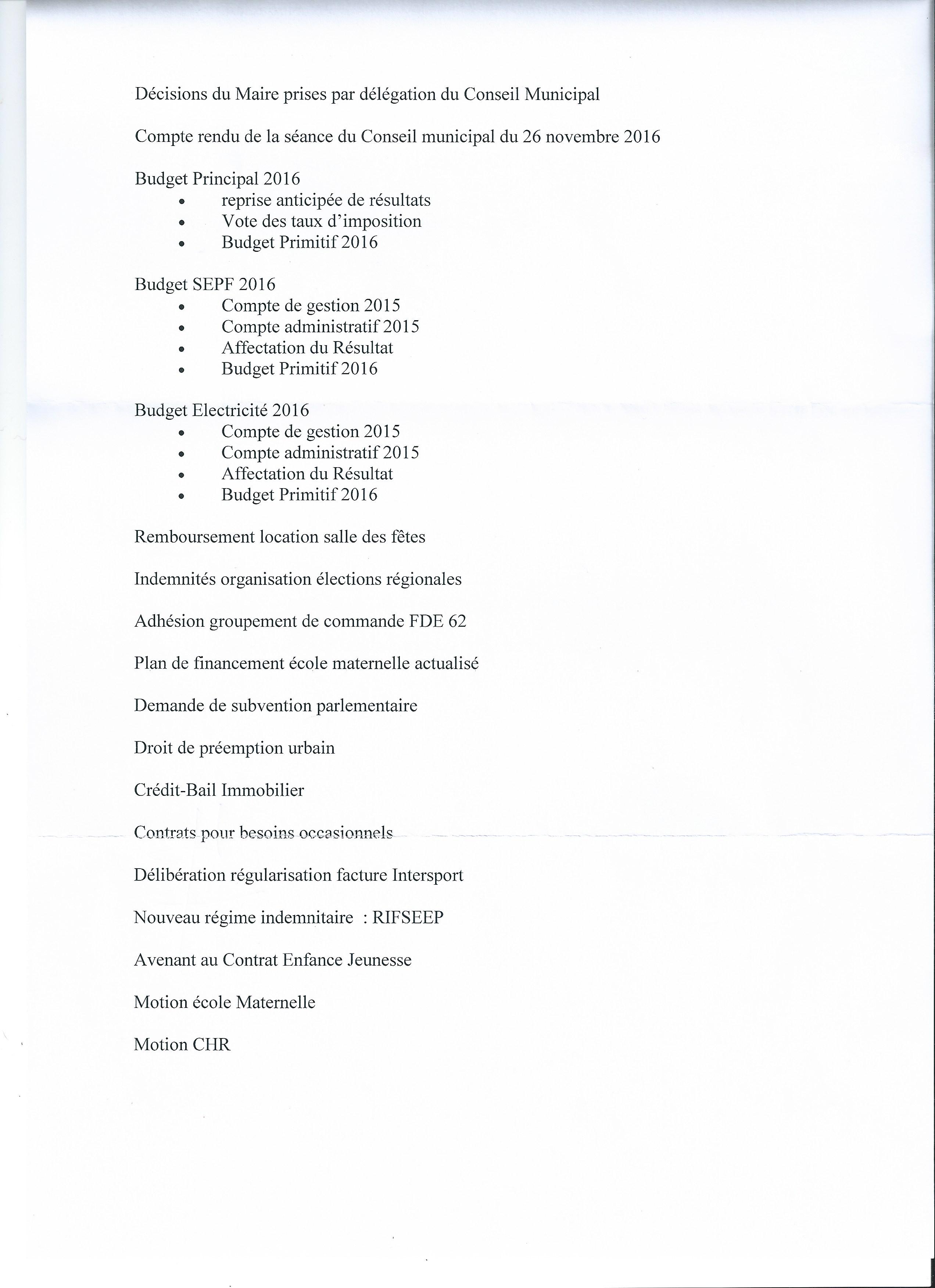 Conseils municipaux page 2 bienvenue sur le site des - Grille salaire adjoint technique eme classe ...